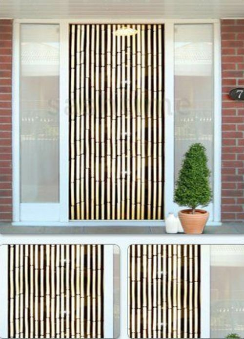 bamboo effect curtain blinds wooden beaded insects fly