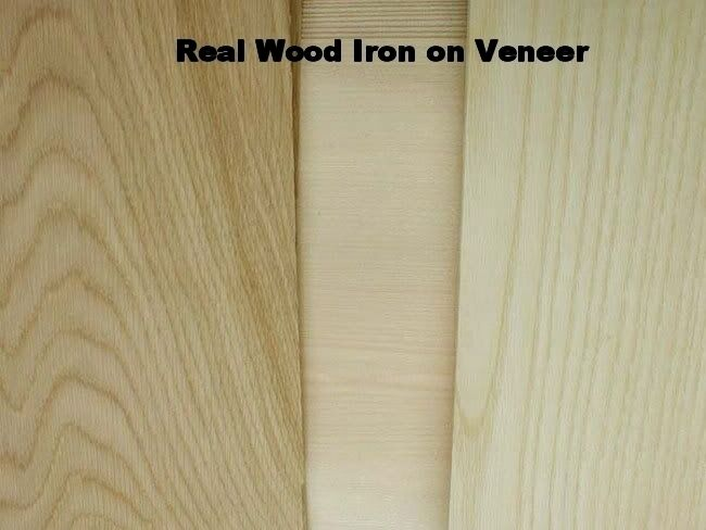 Real Wood Iron On Veneer Sheet Oak Walnut Pine Teak Beech