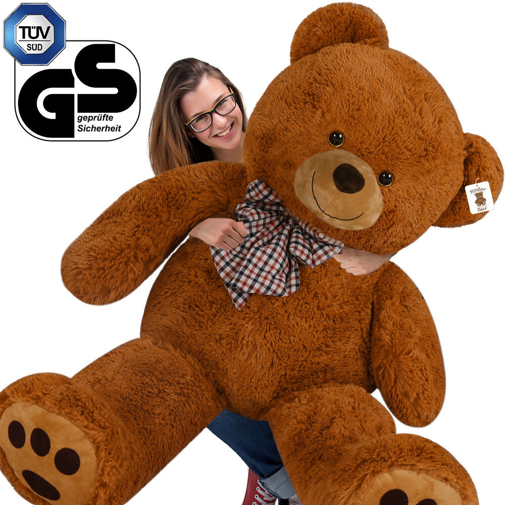 grand nounours g ant ours en peluche xxxl teddy bear brun ebay. Black Bedroom Furniture Sets. Home Design Ideas