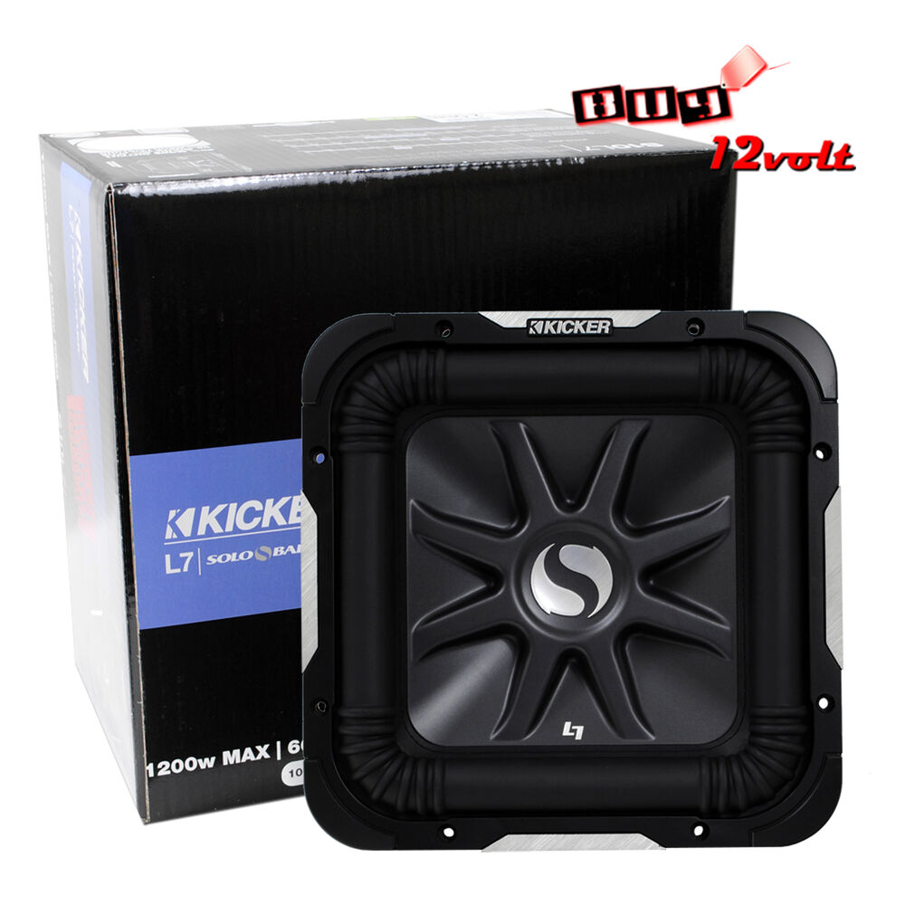 kicker solo baric s10l72 10 subwoofer with dual 2 ohm. Black Bedroom Furniture Sets. Home Design Ideas