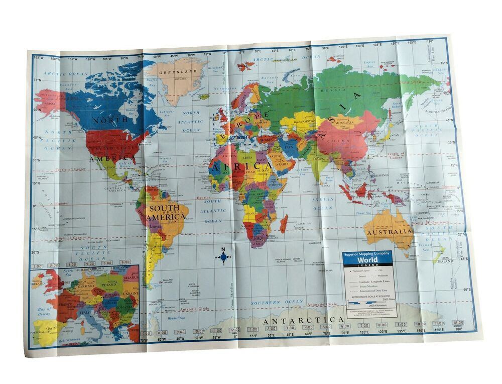 world map poster size wall decoration large map of the. Black Bedroom Furniture Sets. Home Design Ideas