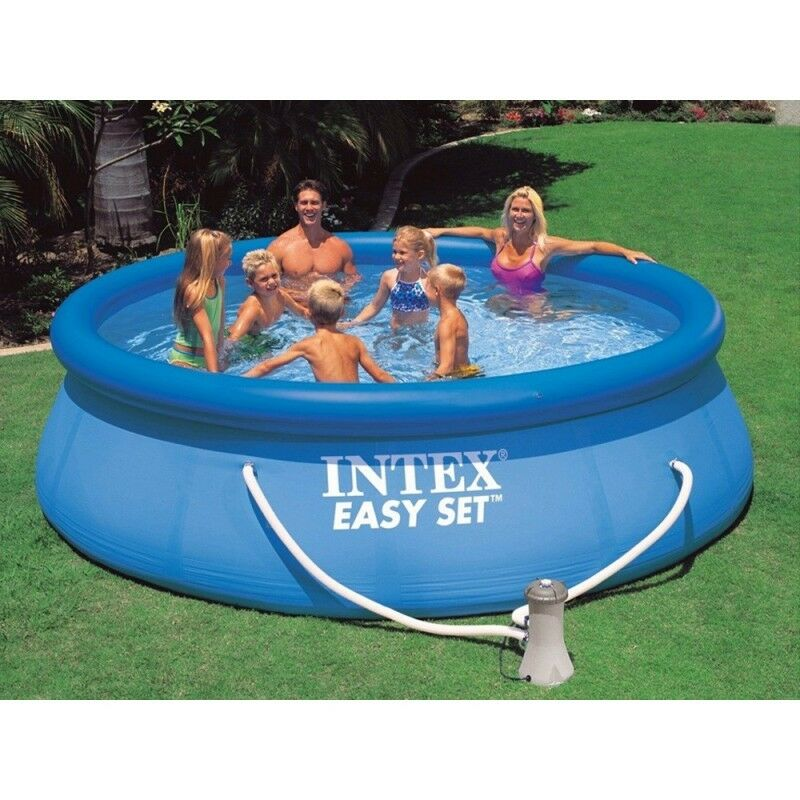 12ft X 36in Intex Easy Set Above Ground Swimming Pool Package Ebay