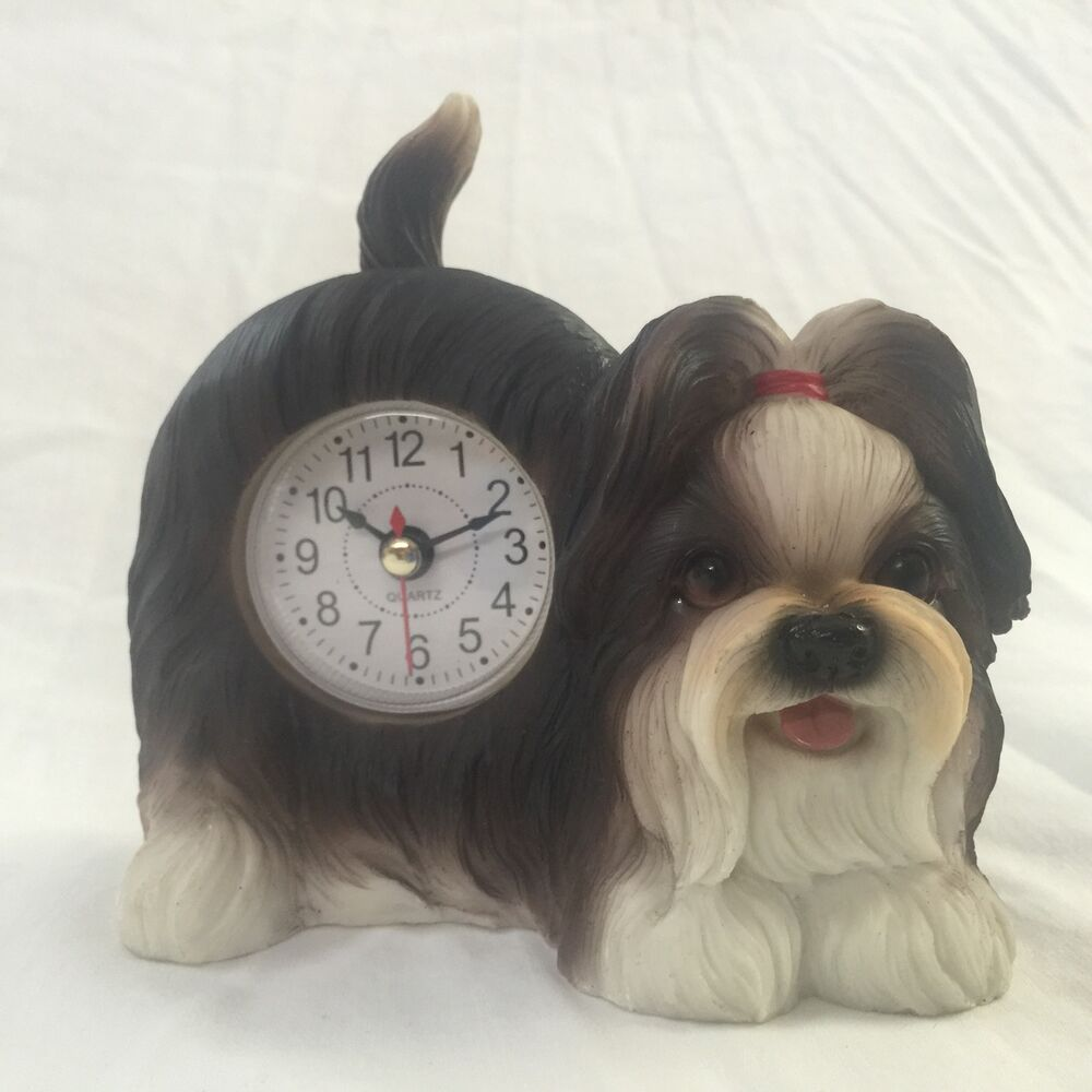 EASTER SALE!! Critter Clock Shih Tzu Tabletop Wagging Tail ...