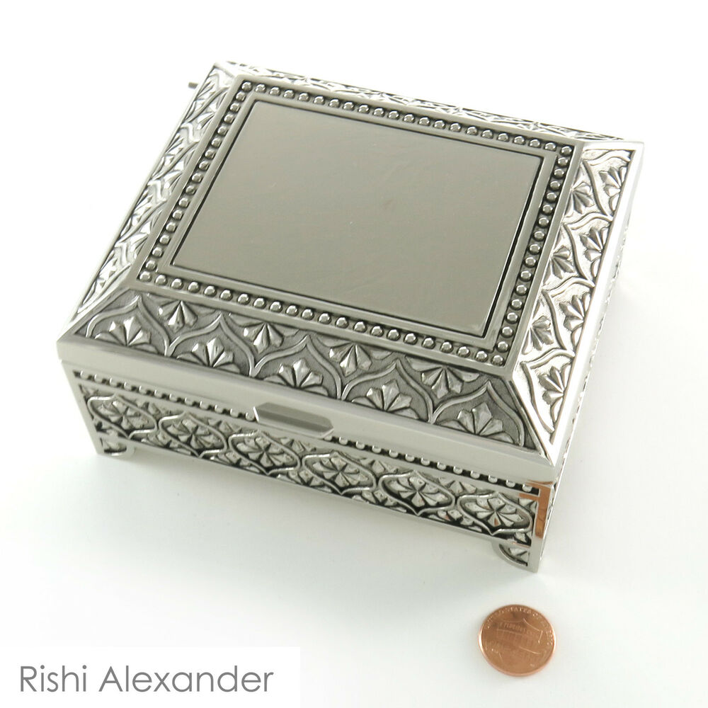 Monogrammed Personalized Jewelry Boxes Velvet Lined Free
