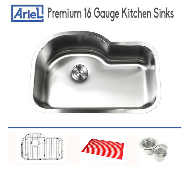 16 Gauge Undermount Kitchen Sink : ...