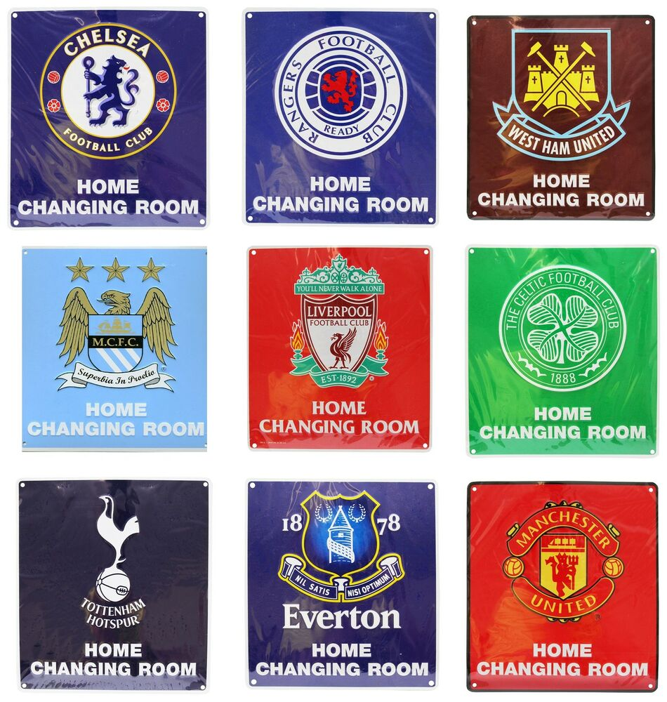 official football club fc home changing room sign man utd liverpool more ebay. Black Bedroom Furniture Sets. Home Design Ideas