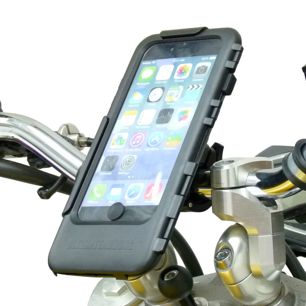 iphone 6 handlebar mount easy fit waterproof tough motorcycle bike handlebar 14979