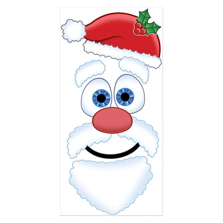 Christmas Party Decoration Santa Claus Face Door Cover