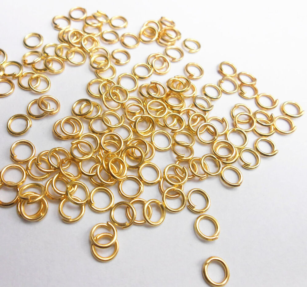 500PCS 3-9MM Wholesale Making Jewelry Findings Gold Plate