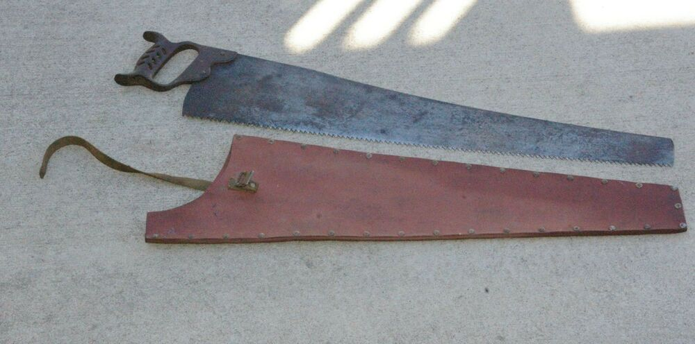 Antique Steel saw iron handel Indianapolis Indiana Manufacturer Mining ...