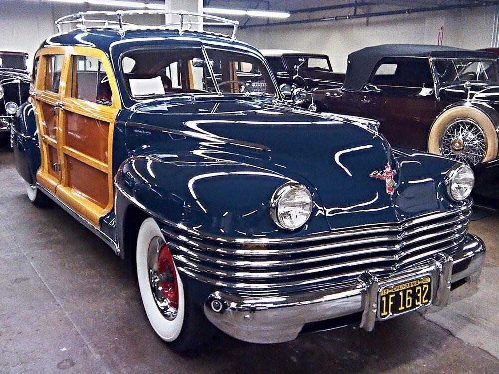 old photo 1942 chrysler town country auto ebay. Black Bedroom Furniture Sets. Home Design Ideas