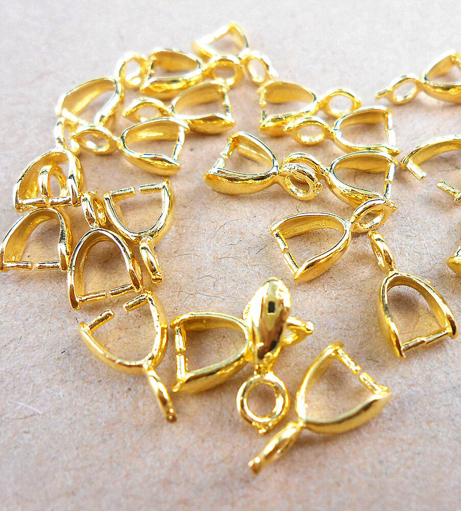 Wholesale 50 100pcs diy 18k gold jewelry making findings for Earring supplies for jewelry making