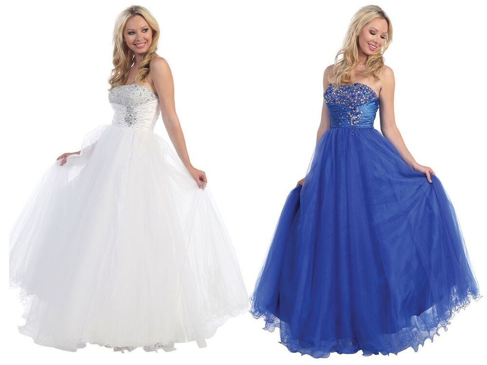 Long Evening Formal Party Ball Gown Prom Wedding