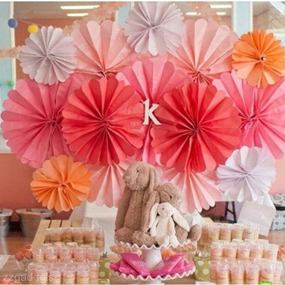 Paper Flower Balls For Wedding Colorful Paper Pom Flowers Balls Wedding Flower Birthday Party