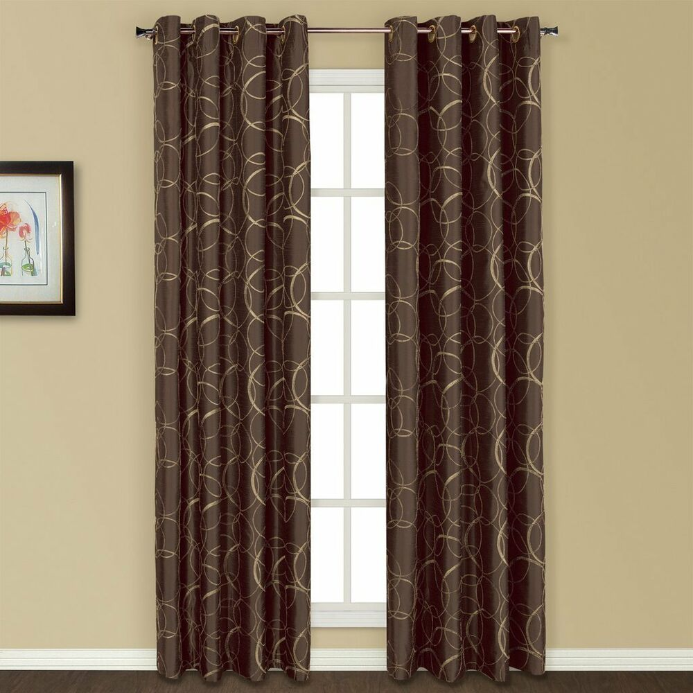 United curtain sinclair embroidered window curtain panel 54 quot x 63