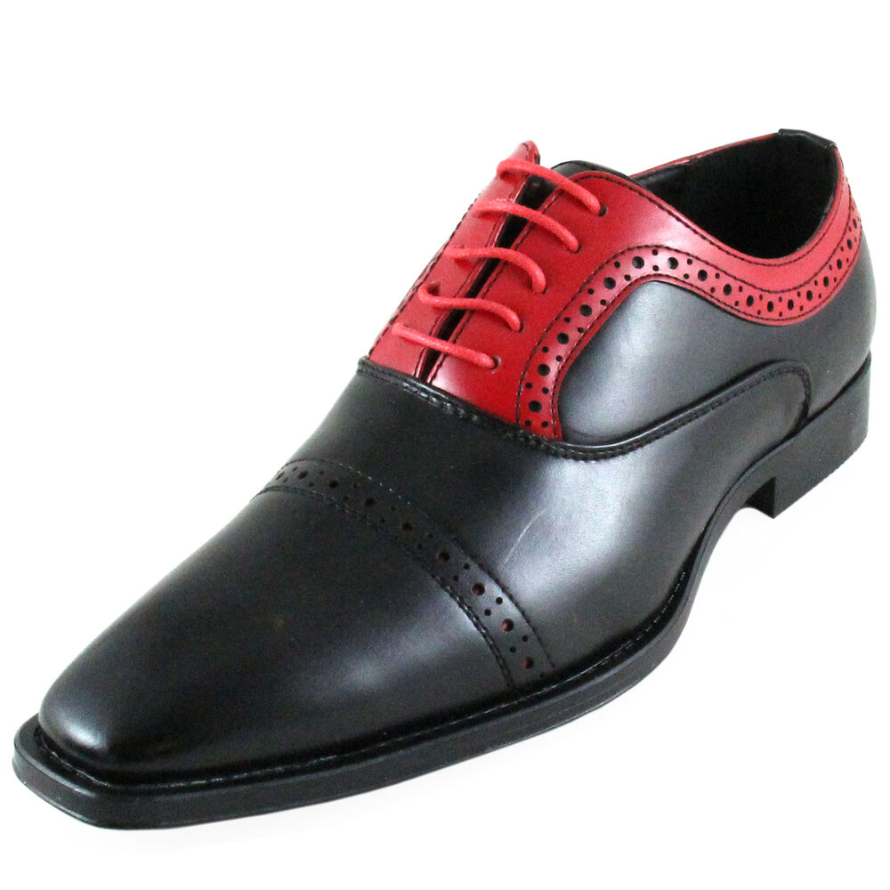 New Men 39 S Dress Shoes Fashion Solid Lace Up Style Black Red Formal Wedding Ebay