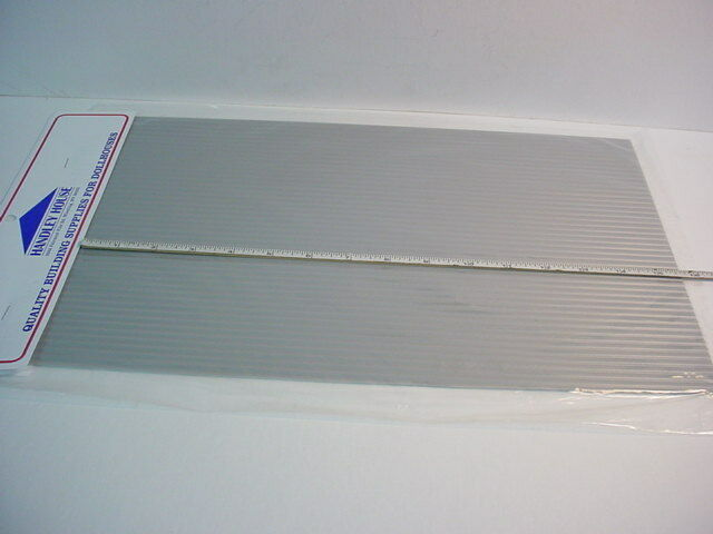 Dollhouse Miniature Tin Looking Plastic Roof Sheets Grey