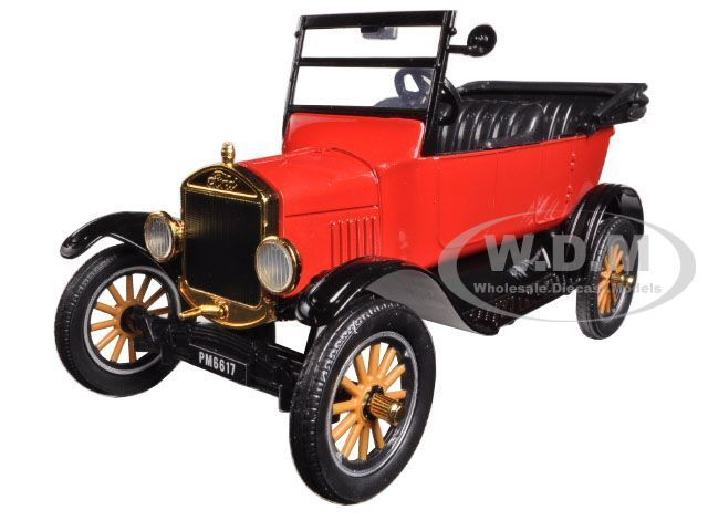 1925 Ford Model T Touring Red 1 24 Diecast Model Car By