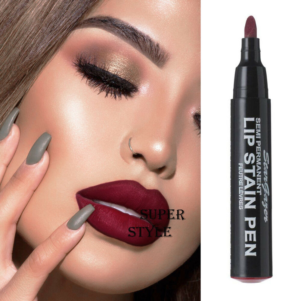 Stargazer matte red wine semi permanent lip stain pen How to get rid of red lipstick stain