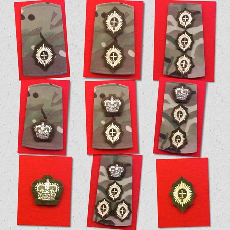img-Guards Officers MTP Rank Slides Foot Guards Multicam Rank Coldstream Guards