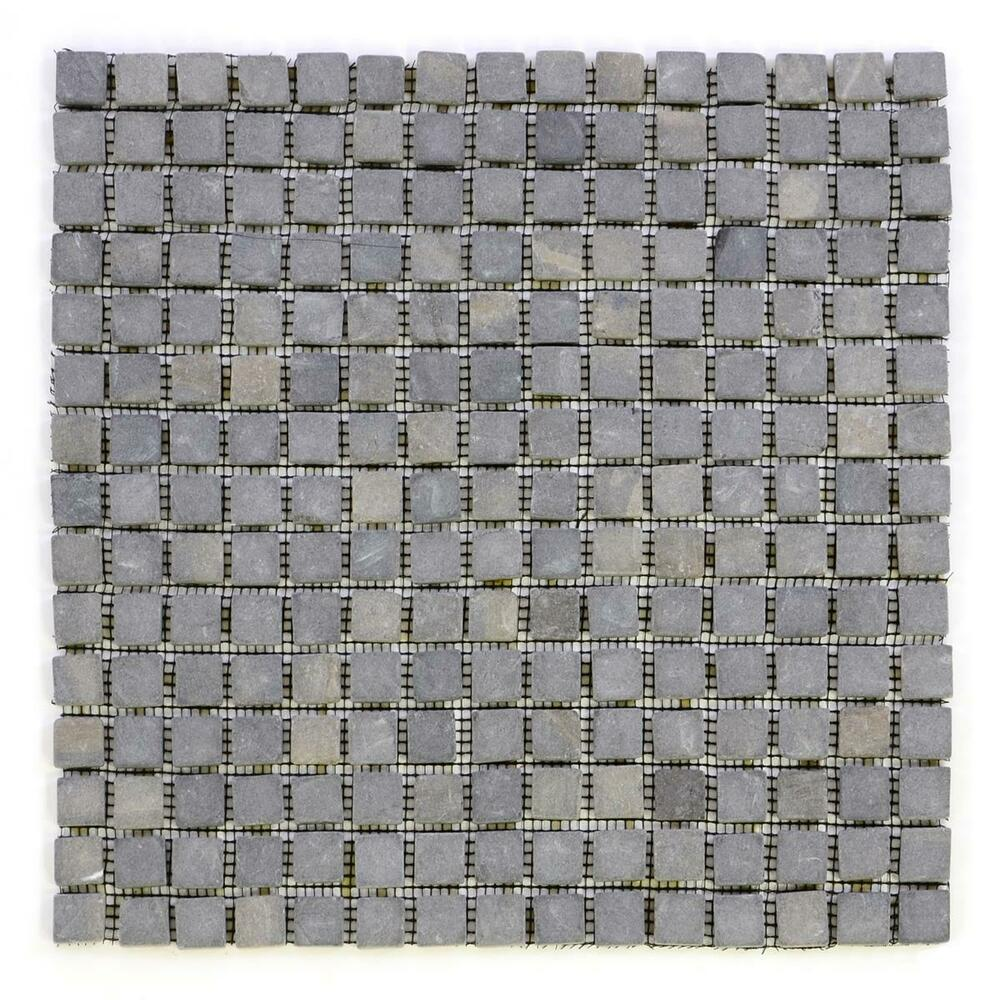 divero 1 matte 30x30cm marmor stein mosaik fliesen wand boden quadratisch grau ebay. Black Bedroom Furniture Sets. Home Design Ideas