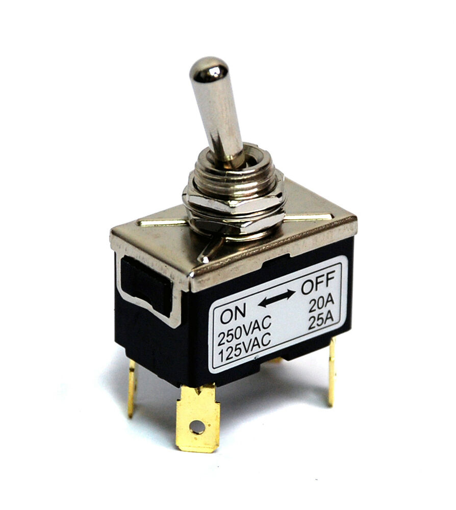 1pc Power Toggle Switch On Off 4p Dpst 25a 125v 20a 250v