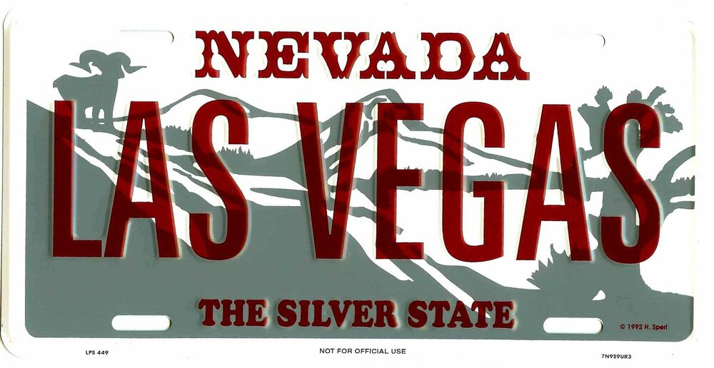 Nevada las vegas metal license plate auto tag 449 ebay for Ebay motors las vegas