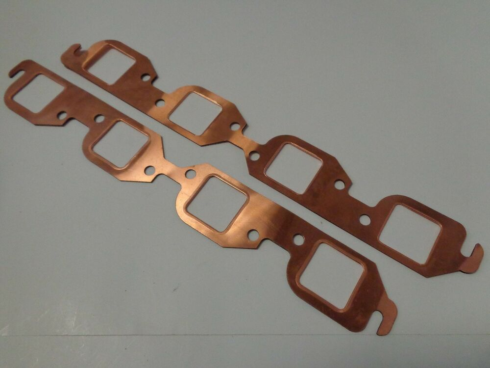 Bbc square port copper header exhaust gaskets bb chevy
