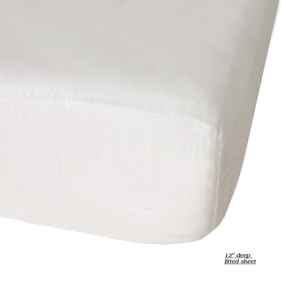1 New Queen Size Hotel Plus Fitted Sheet T180 Percale