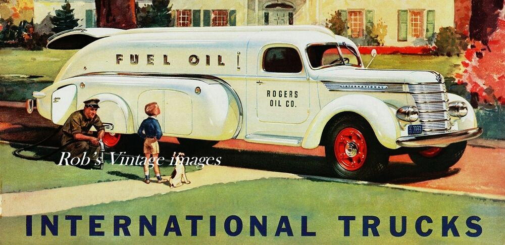 Vintage International Truck Gasoline Hauler 1940 Photo