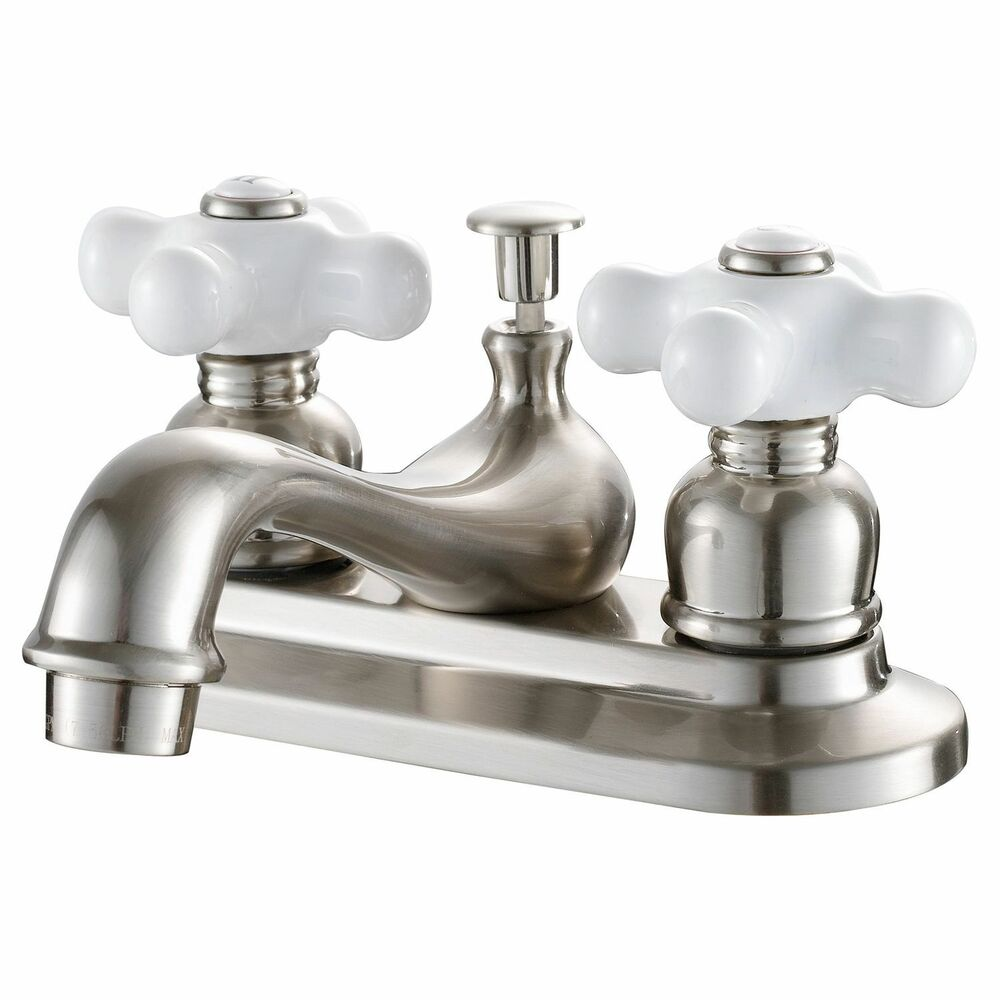 7 Faucet Finishes For Fabulous Bathrooms: Hardware House 2 Handle Bathroom Faucet W/ Satin Nickel