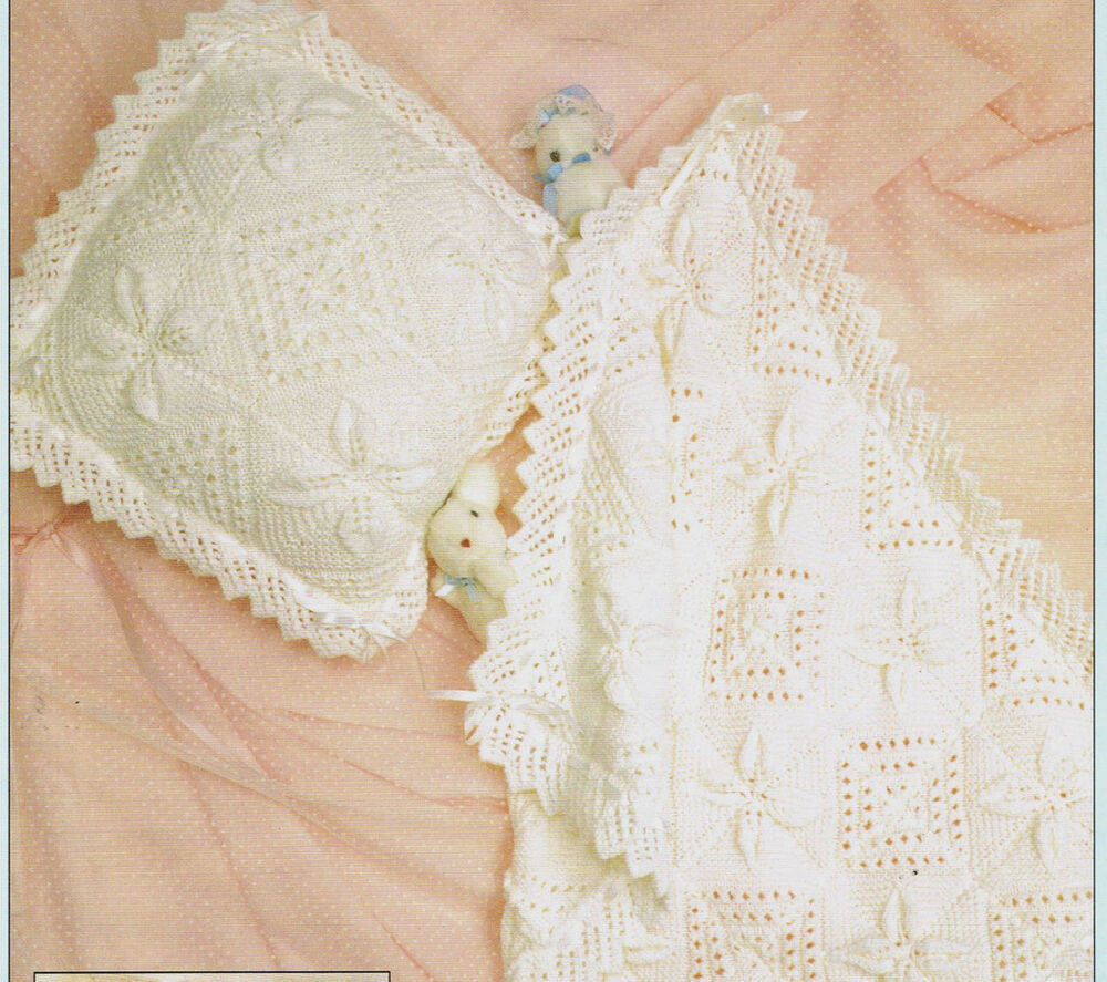 Pram Cover Knitting Pattern : Vintage knitting pattern-how to make a pretty lace baby pram cover & cush...