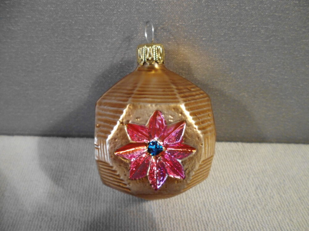 Vintage german christmas tree ornament blown glass ebay Vintage glass christmas tree ornaments