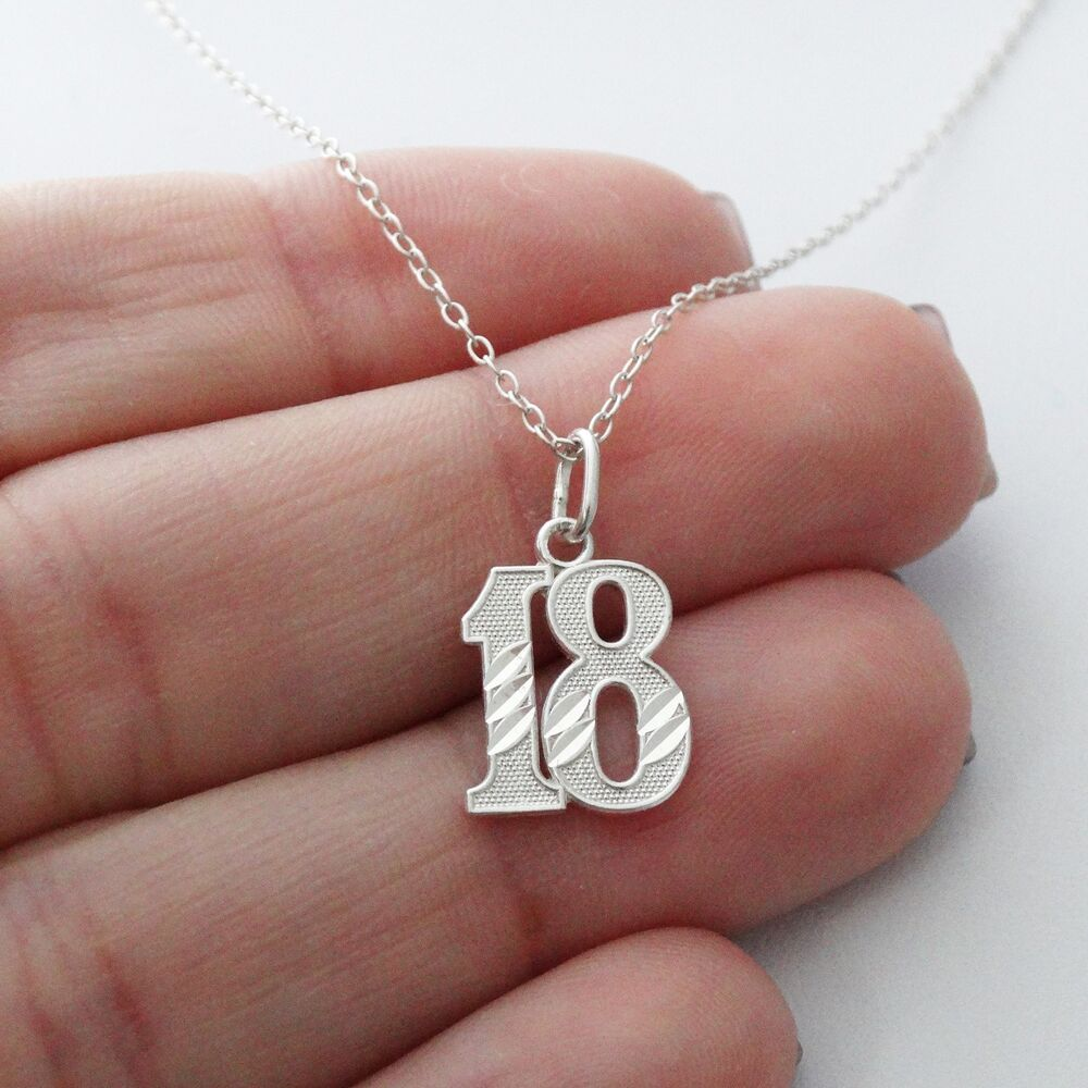 18 Eighteen Charm Necklace 925 Sterling Silver
