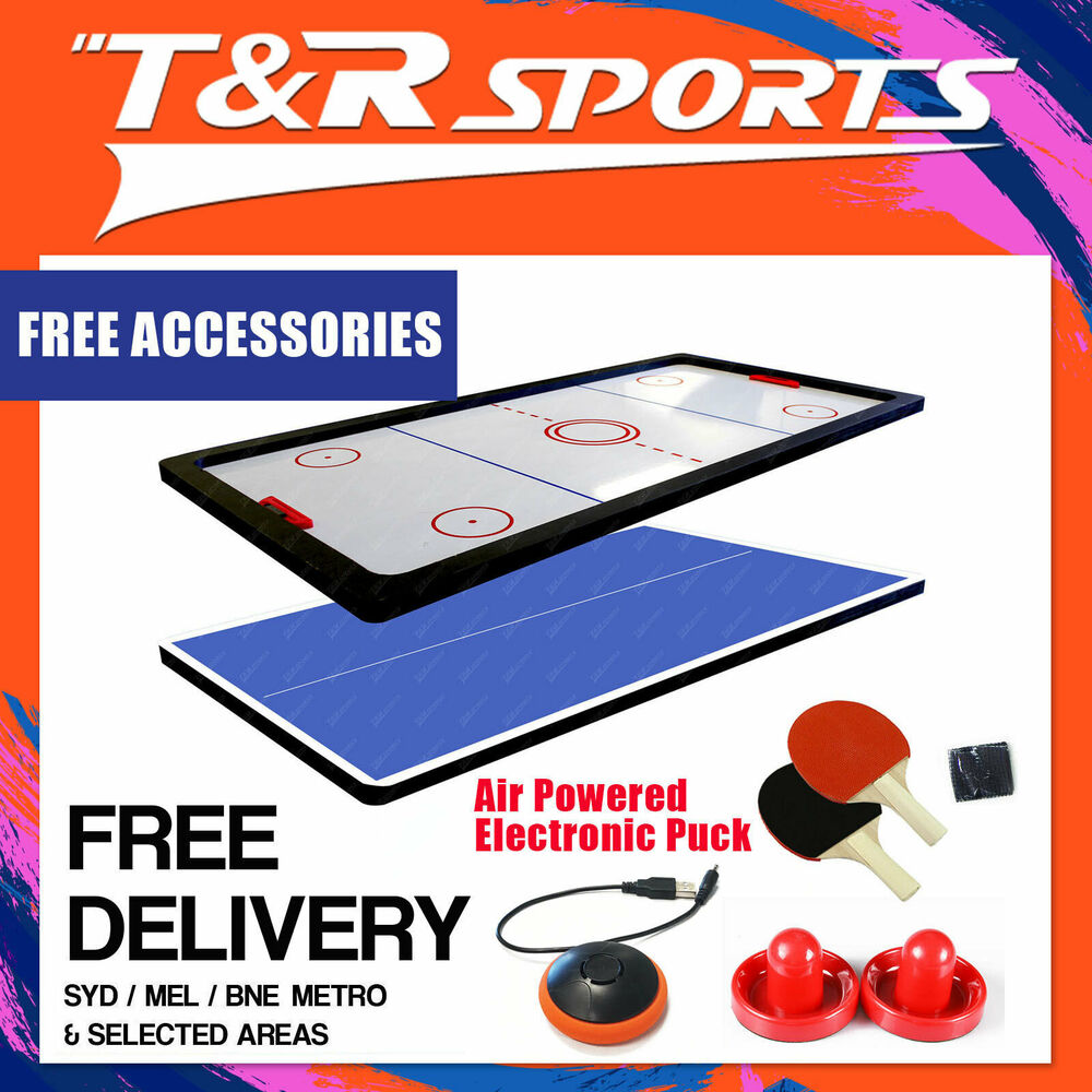 8FT Air Hockey/Table Tennis Ping Pong/Dinning Top Pool Billiard Table Free Post : eBay