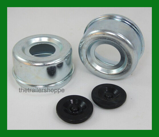 Dust Grease Black Rubber Cap Cover Plug 1 98 Quot Trailer Hubs