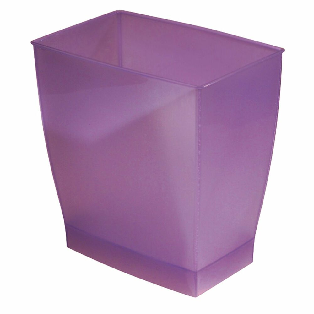 New 11 liter rectangular trash can bathroom waste basket for Purple bathroom bin