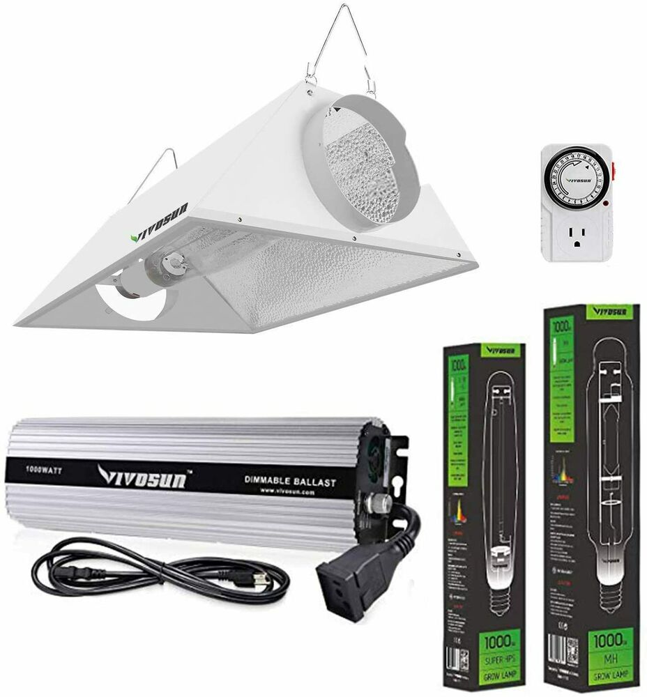 Vivosun 400w 600w 1000w Watt Grow Light System Hps Mh