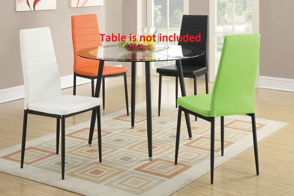 4 different colors retro style modern dining chairs furniture metal legs chair ebay. Black Bedroom Furniture Sets. Home Design Ideas