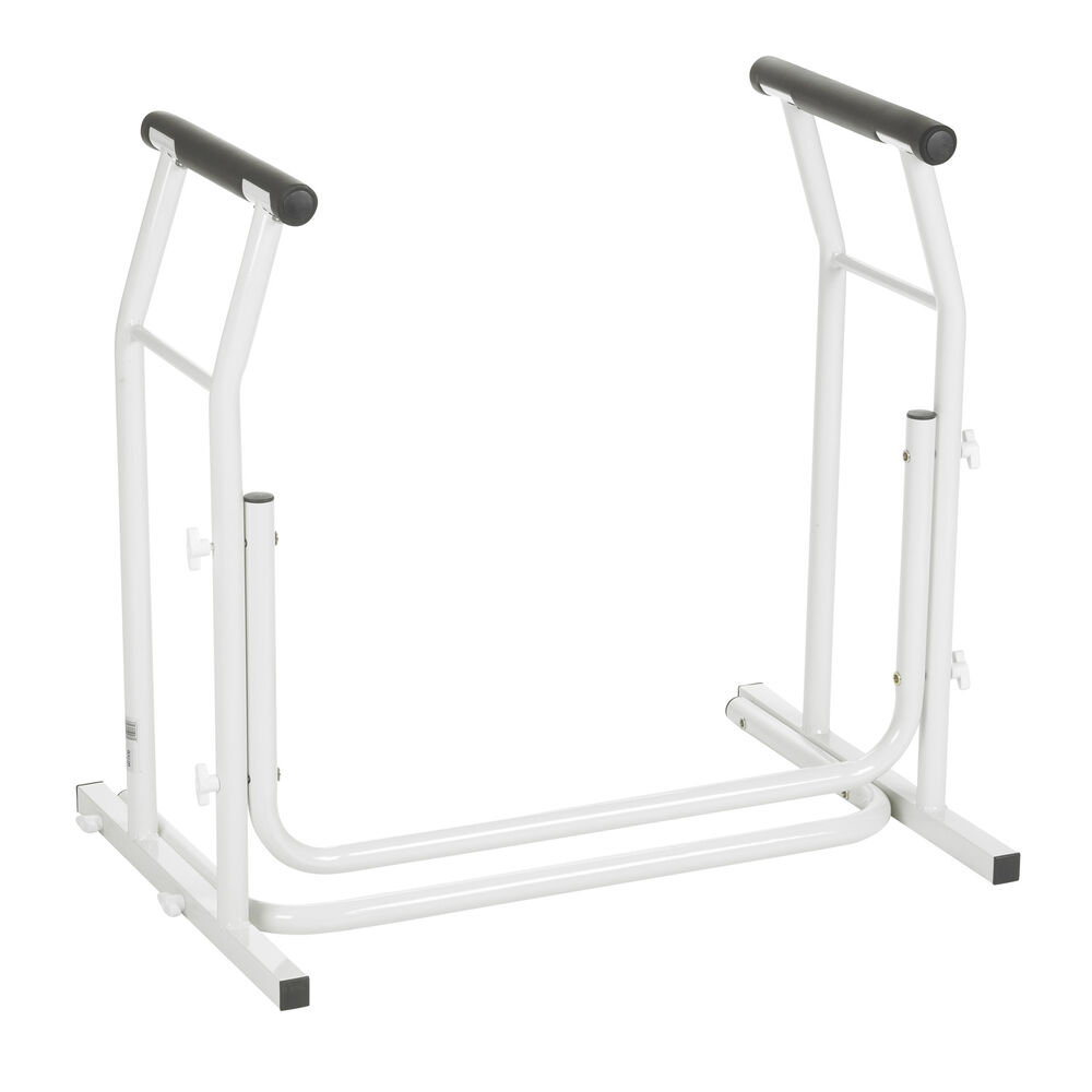 toilet safety rail bathroom seat frame medical handicap support bar