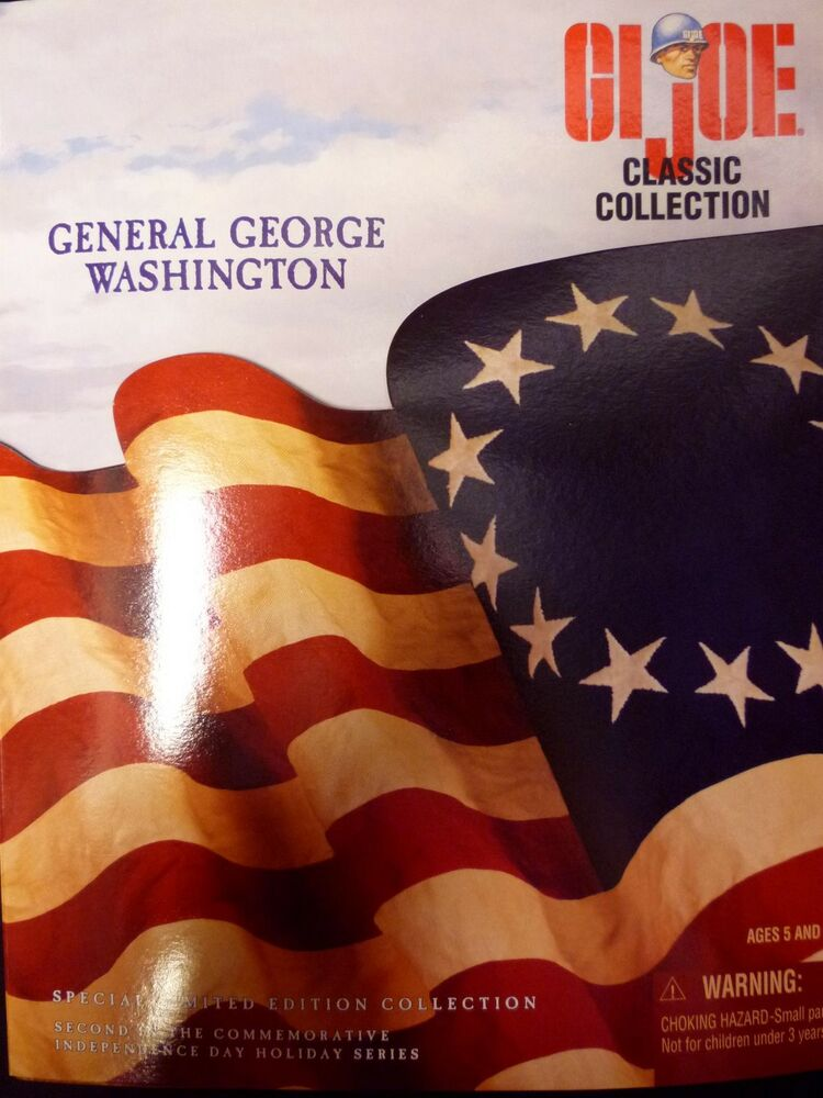 gi joe 12 inch general george washington hasbro toys exclusive figure new 1998 ebay. Black Bedroom Furniture Sets. Home Design Ideas