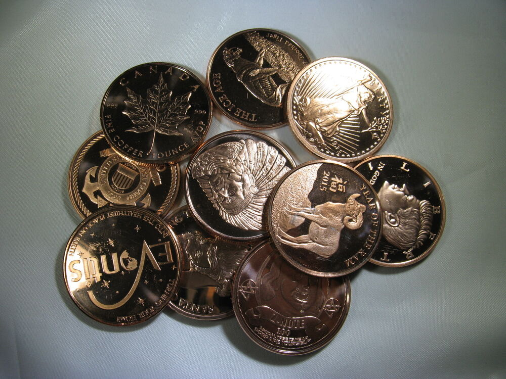 10 Quot Scratched Or Blemished Quot 1oz 999 Copper Rounds Read