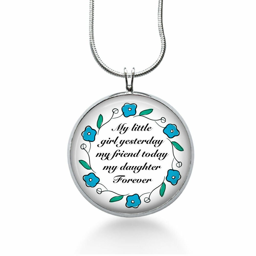 Mother Daughter Wedding Gifts: Mother Daughter Necklace-Gift To Bride From Mom Wedding