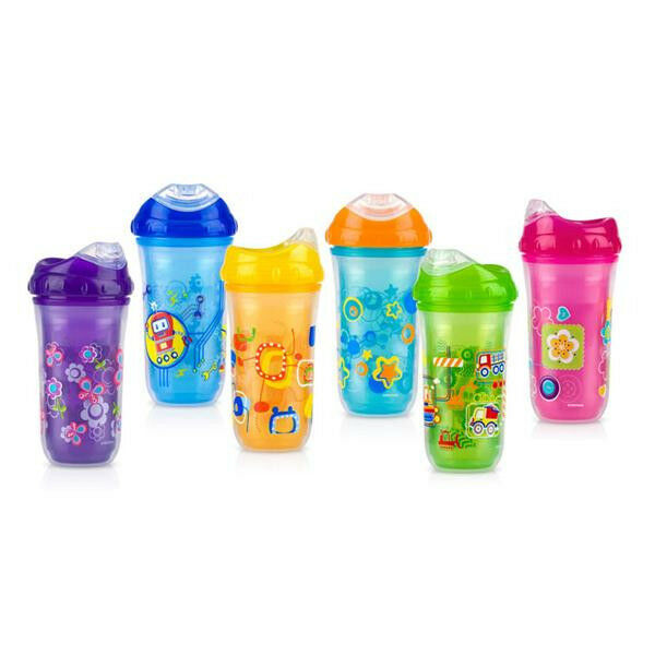 1 New Nuby Sippy Cup Insulated Cool Sipper No Spill Ebay