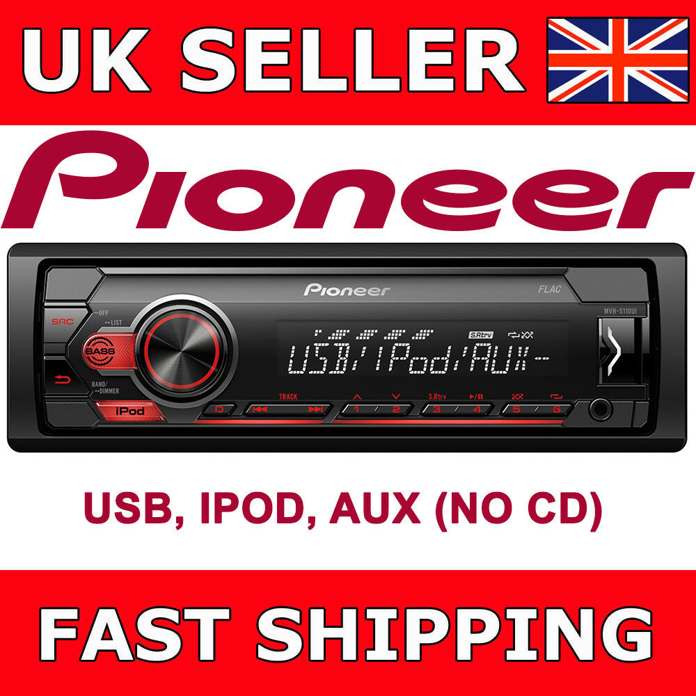 pioneer mvh s110ui mechless no cd usb ipod iphone android. Black Bedroom Furniture Sets. Home Design Ideas