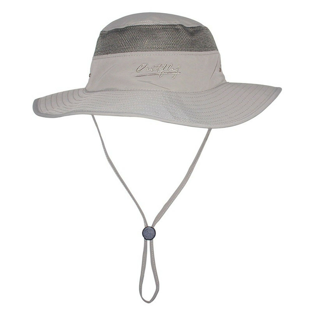 Sun hat bucket hat boonie hunting fishing outdoor cap wide for Fishing bucket hat