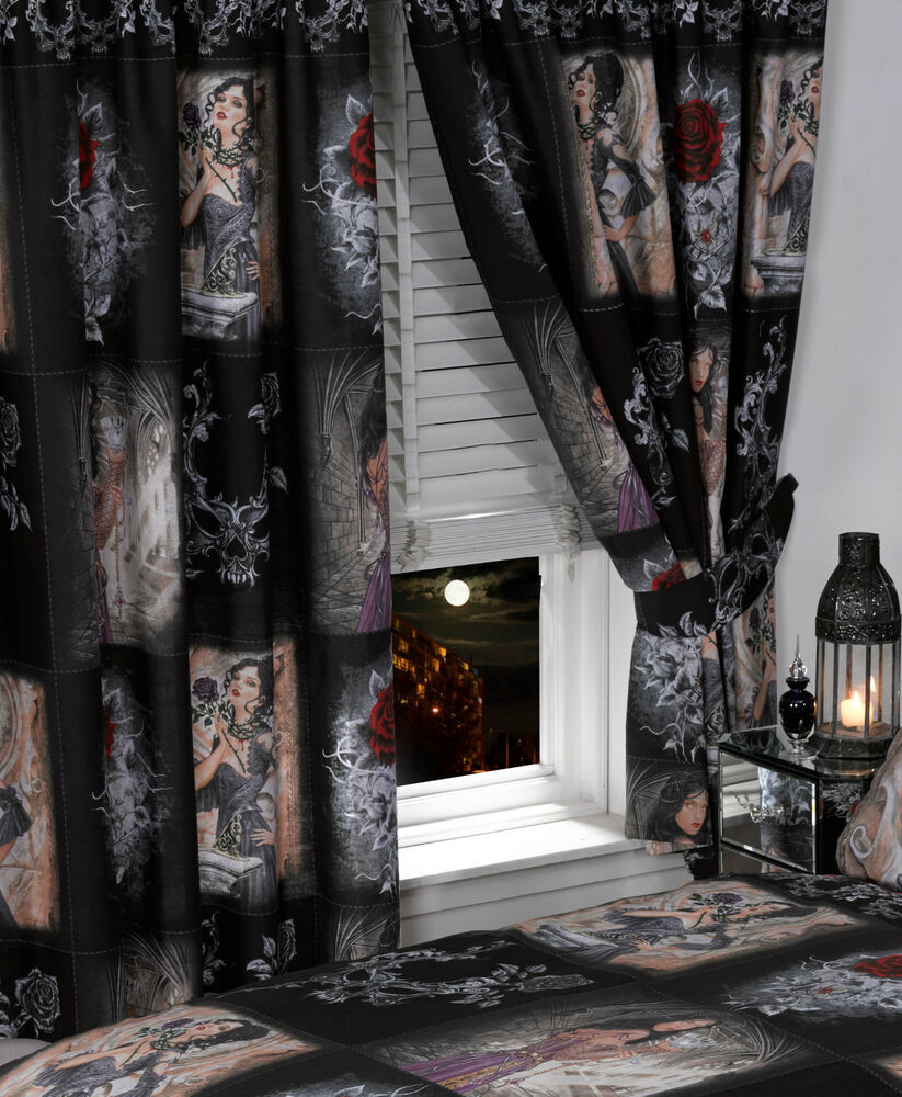 66 Quot X 72 Quot Alchemy Gothic Curtains Emo Story Of The Rose
