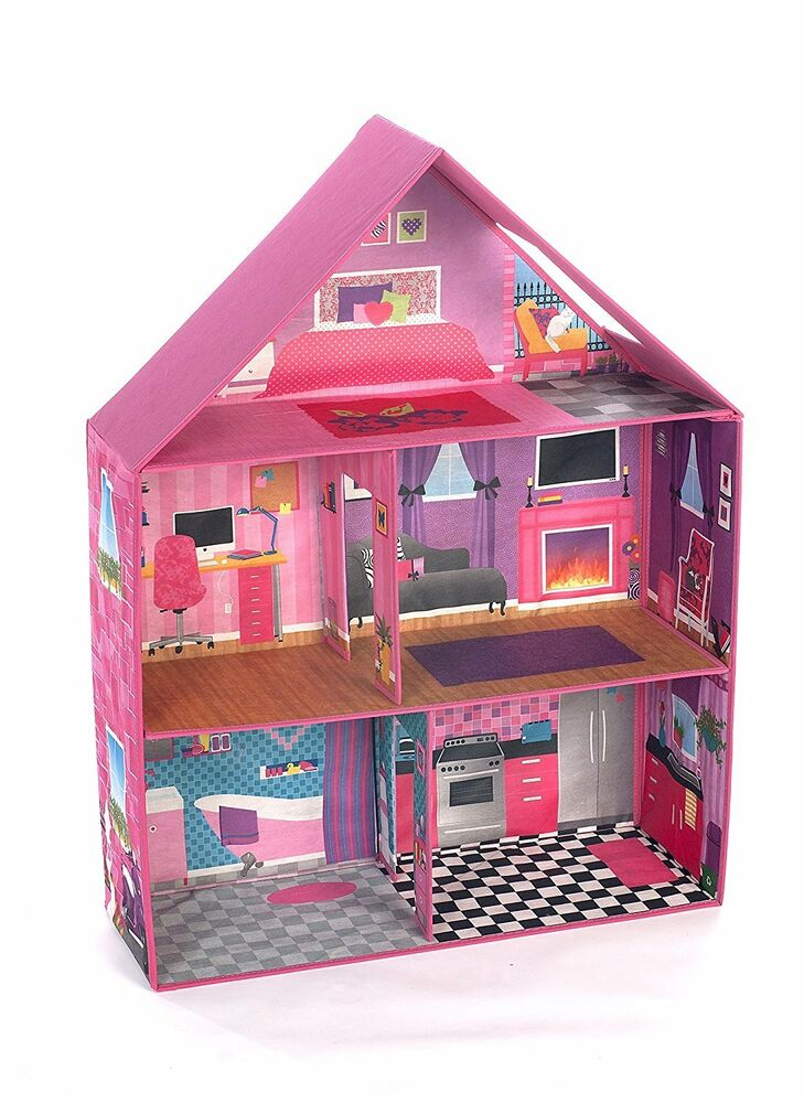 Modern Pink Barbie Dream House Home Play Room Set Girls