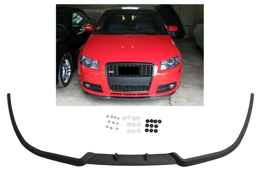 audi a3 8p s3 front bumper cup chin spoiler lip sport. Black Bedroom Furniture Sets. Home Design Ideas