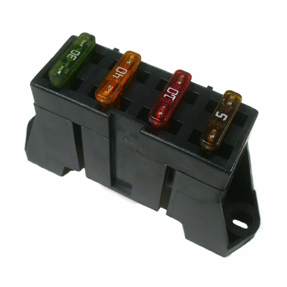 Ato Atc 4 Way Fuse Block Panel Holder With Terminals And Buss Bar 12v 24v Car